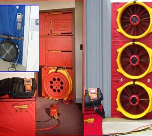 Door Fan Test for Gas-extinguishing Systems