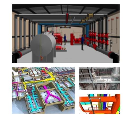 3D Fire Sprinkler And Gas Design