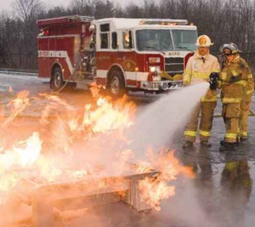 Hose Line And Fire Extinguisher Training System