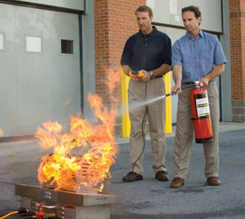 Live Fire Extinguisher Training System