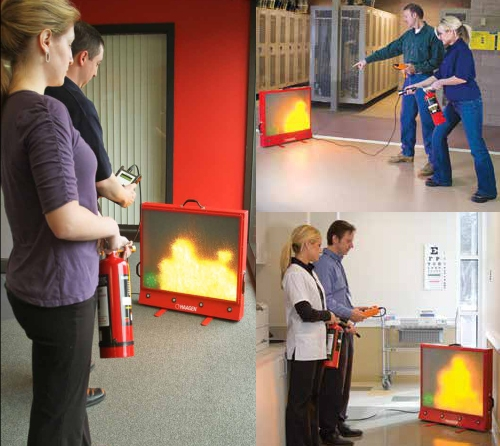 Laser Fire Extinguisher Training System